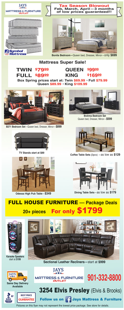 Jay S Mattress Furniture Outlet Memphis Power Ads